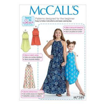 Patron McCall's 7589 Patron de robes licou pour filles