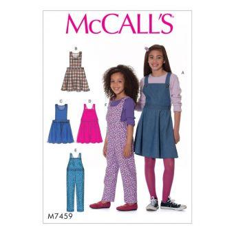 Patron McCall's 7459 Patron de robes tabliers et salopettes