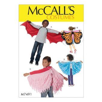 Patron McCall's 7491 Ailes de chauve - souris, de papillon ou de conte de fées pour enfants