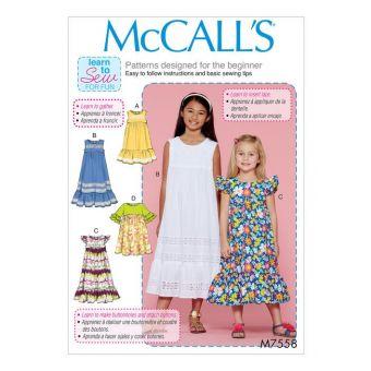Patron McCall's 7558 Patron de robes style empire pour filles