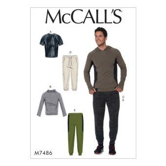 Patron McCall's 7486 Patron de tenues de sport pour hommes