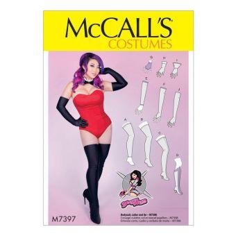 Patron McCall's 7397 Gants, jambières, bas et couvre - bottes par Yaya Han - Femme