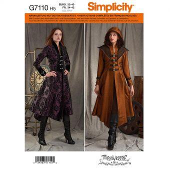 Patron Simplicity 8769 Manteau Cosplay pour femmes de 34 à 50