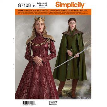 Patron Simplicity 8768 Déguisement cosplay pour femmes de 34 à 50