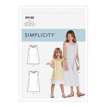 Patron Simplicity 9120 Robe fille chasuble - de 3 à 14 ans