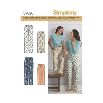 Patron Simplicity 8518 Pantalon fillette et femme