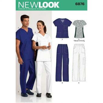 Patron New Look 6876 Ensemble médical