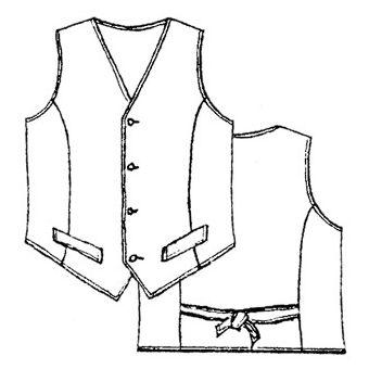 Patron Frégoli 422 - Gilet de costume classique garçon 12 à 16 ans