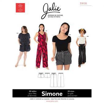 Patron JALIE 3908 SIMONE Pantalon ample et short pour femmes et filles de 36 à 58 et de 2 à 13 ans