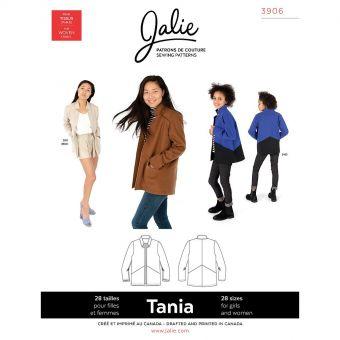 Patron JALIE 3906 TANIA veste/blazer pour femme de 36 à 58 et filles de 2 à 13 ans