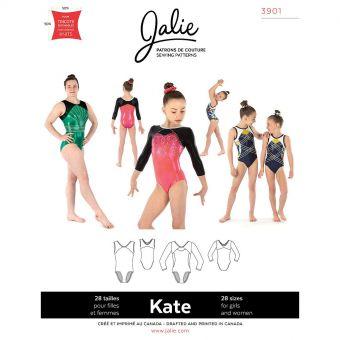 Patron JALIE 3901 KATE Justaucorps de gymnastique de 36 à 58 et de 2 à 13 ans