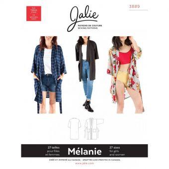 Patron Jalie 3889 Peignoir kimono - Mélanie