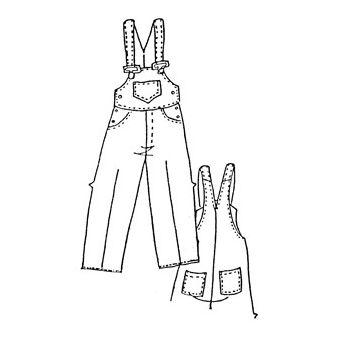 Patron Frégoli 418 - Salopette 5 poches adolescent 12 à 16 ans