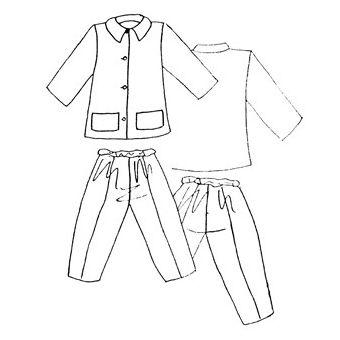 Patron Frégoli 417 - Pyjama classique adolescent 12 à 16 ans