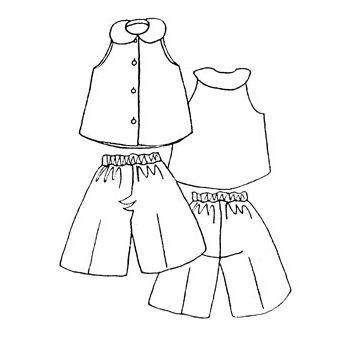 Patron Frégoli 413 - Ensemble chemisier et jupe culotte fille 12 à 16 ans