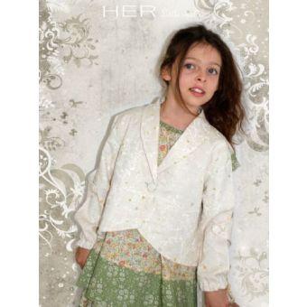 Her Little World - Patron Veste INATTENDUE fille de 2 à 10 ans