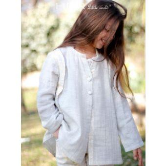 Her Little World - Patron Veste FRILEUSE fille de 2 à 10 ans