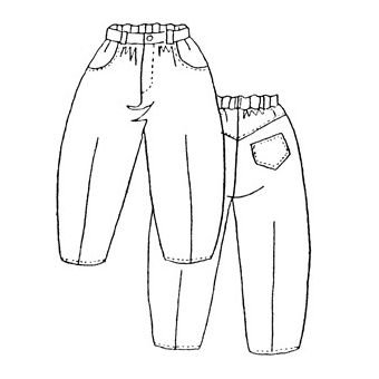 Patron Frégoli 219 - Pantalon 4 poches enfant 4 à 10 ans
