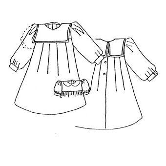 Patron Frégoli 304 - Robe fille 12 à 36 mois
