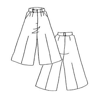 Patron Frégoli 403 - Jupe culotte classique fille 12 à 16 ans