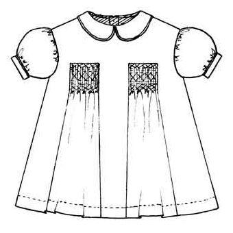 Patron Frégoli 372 - Robe fille 6 à 36 mois