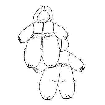 Patron Frégoli 339 - Combinaison à capuche bébé 6 à 36 mois