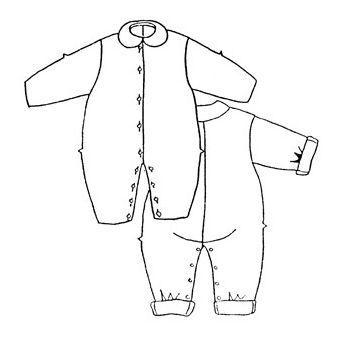 Patron Frégoli 337 - Combinaison bébé 6 à 36 mois