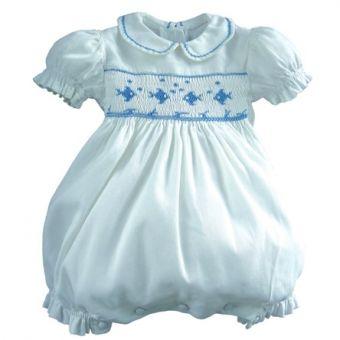 Patron Frégoli 334 - Barboteuse à smocks bébé 3 à 24 mois