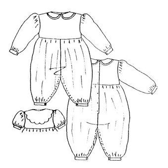 Patron Frégoli 325 - Combinaison bébé 3 à 36 mois
