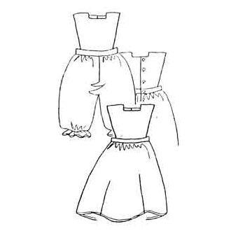 Patron Frégoli 323 - Robe chasuble ou bloomer bébé 6 à 36 mois