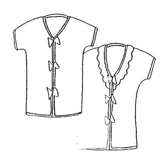 Patron Frégoli 318 - Robe de chambre et chaussons - 12 mois