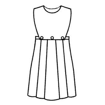 Patron Frégoli 605 - Robe chasuble fille 4 à 12 ans