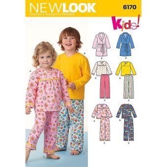 Patron New Look 6170 Vêtements de nuit pour enfants