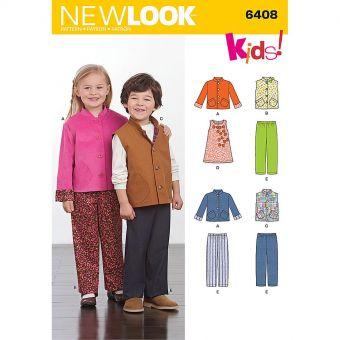 Patron New Look 6408 Ensemble pour enfants