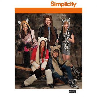 Patron Simplicity 7665 Chapeaux animaux