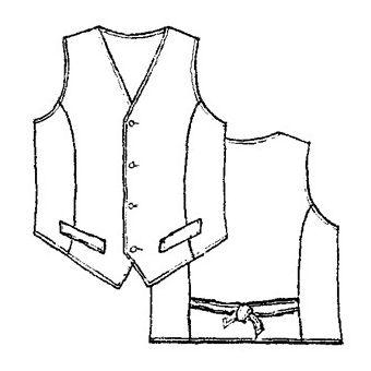 Patron Frégoli 135 - Gilet de Costume enfant 4 à 10 ans