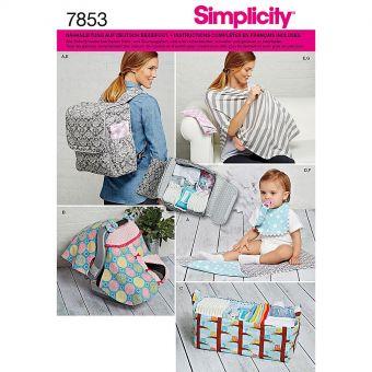 Patron Simplicity 1177 Accessoires bébés