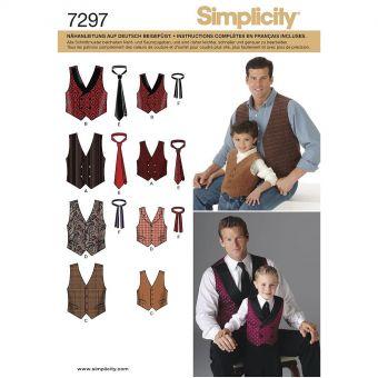 Patron Simplicity 4762 gilet et cravate