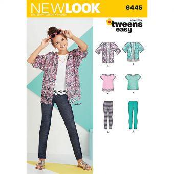 Patron New Look 6445 Ensemble fille