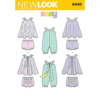 Patron New Look 6440 Ensemble bébé
