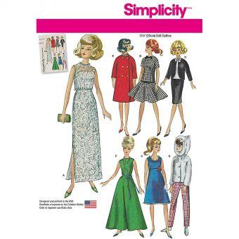 Patron Simplicity 1242 Vêtements vintage poupées