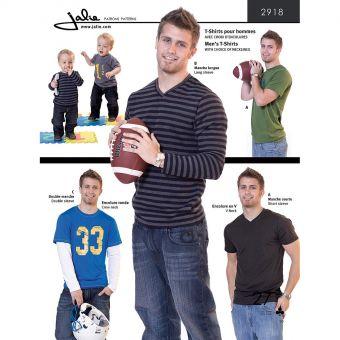 Patron Jalie 2918 Tee-Shirts pour hommes