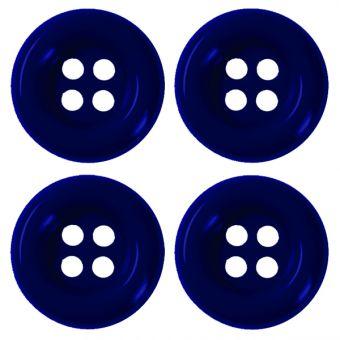 Boutons 35mm bleu marine (4 pièces)