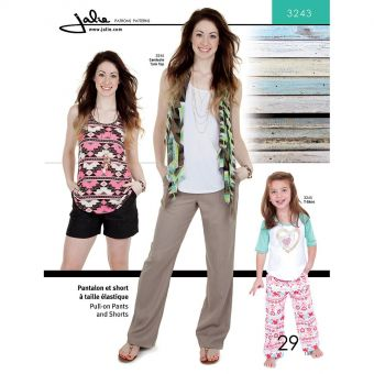 Patron Jalie 3243 Pantalon à taille élastique pour femmes