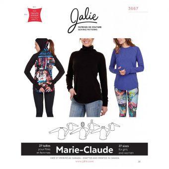 Patron Jalie 3667 Marie - Claude - Raglan sport