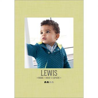Patron Maison Victor LEWIS - Sweat capuche  enfant 6 mois à 14 ans