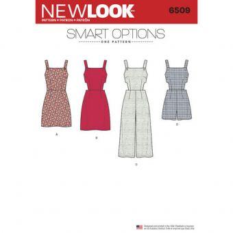 Patron New Look 6509 Combi - short et combi - pantalon