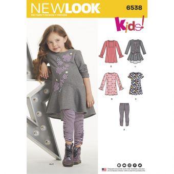 Patron New Look 6538 Ensemble pour fillette