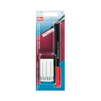 24 étiquettes thermocollantes et crayon marqueur rouge indélébile