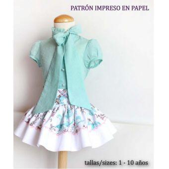 Patron PatronesMujer 9068 Ensemble blouse et jupe fillettes